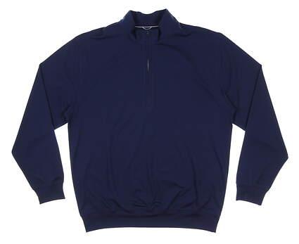 New Mens DONALD ROSS 1/4 Zip Golf Pullover Large L Navy Blue MSRP $145 DR211LS