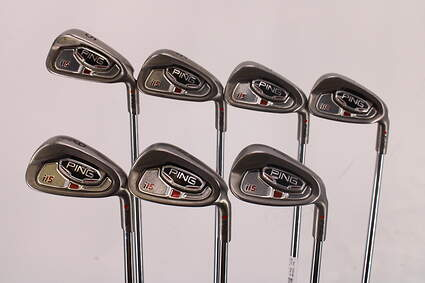 Ping i15 Iron Set 5-PW GW Ping AWT Steel Senior Right Handed Red dot 37.75in