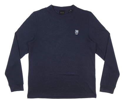 New W/ Logo Mens Dunning Sweater Medium M Halo Heather MSRP $85 D7S19K922