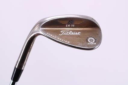 Titleist Vokey Spin Milled SM4 Oil Can Wedge Sand SW 54° 11 Deg Bounce Nippon NS Pro 950GH Steel Stiff Left Handed 35.5in