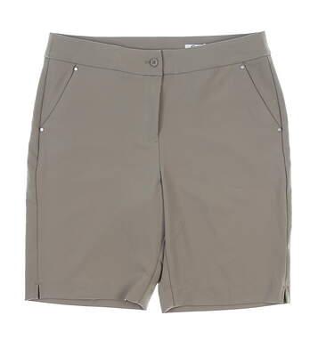 New Womens Greg Norman Golf Shorts 10 Khaki MSRP $59 G2S7H488