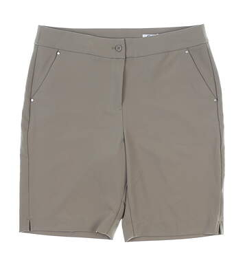 New Womens Greg Norman Shorts 2 Khaki MSRP $59 G2S7H488