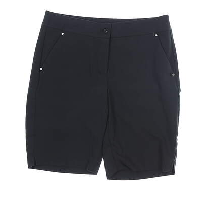 New Womens Greg Norman Shorts 8 Black MSRP $59 G2S7H488