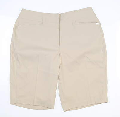 New Womens Tail Golf Shorts 10 Khaki MSRP $73