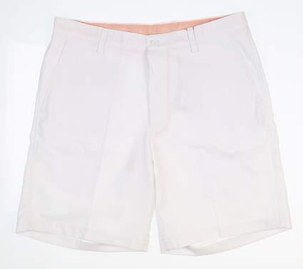 New Mens Fennec Flat Front Golf Shorts 33 White MSRP $85 000F600