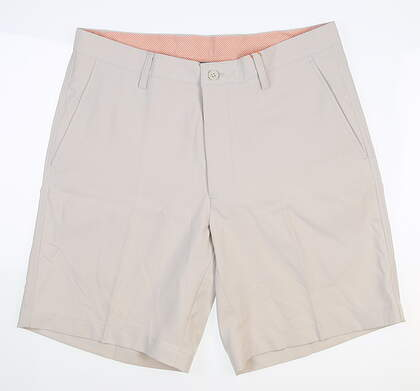 New Mens Fennec Flat Front Golf Shorts 33 Stone MSRP $85 000F600