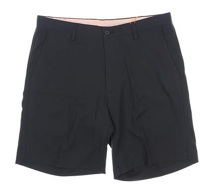 New Mens Fennec Flat Front Golf Shorts 34 Black MSRP $85 000F600
