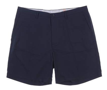 New Mens Fennec Flat Front Golf Shorts 42 Navy Blue MSRP $85 000F600