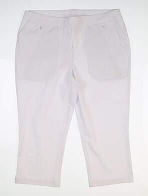 New Womens Nivo Sport Neo Capris 8 White MSRP $90 NI8210411