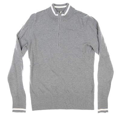 New Womens Cutter & Buck 1/2 Zip Golf Sweater Medium M Gray MSRP $110 LCS00005