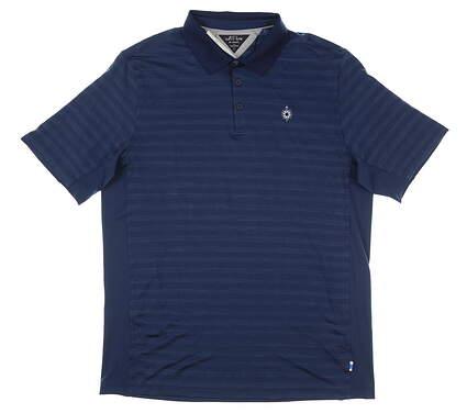 New W/ Logo Mens Adidas Golf Polo Large L Navy Blue MSRP $120 FJ9782
