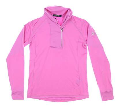 New W/ Logo Womens Ralph Lauren 1/4 Zip Pullover Small S Purple MSRP $120