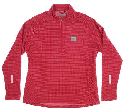 New W/ Logo Womens Level Wear 1/2 Zip Pullover X-Large XL Pink MSRP $65 AX00L