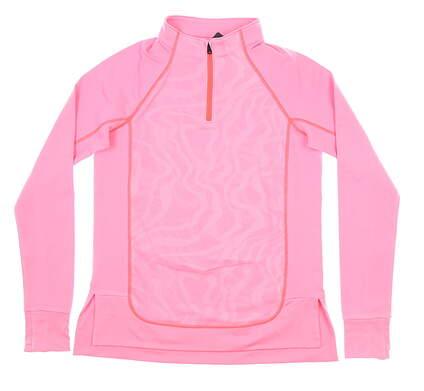 New Womens Under Armour 1/4 Zip Golf Pullover Medium M Pink MSRP $70