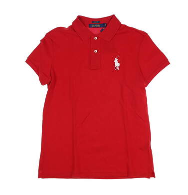 New Womens Ralph Lauren Golf Polo Small S Red MSRP $98