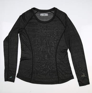New W/ Logo Womens Level Wear Verve Long Sleeve Crew Neck Medium M Gray MSRP $60