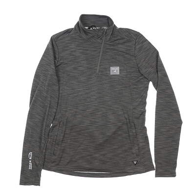 New W/ Logo Womens Level Wear Wave 1/4 Zip Pullover Medium M Gray MSRP $65 MK00L