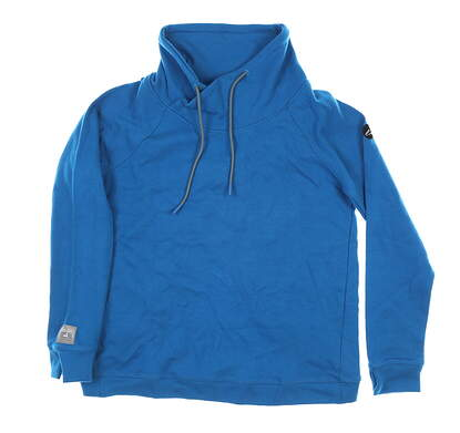 New W/ Logo Womens Level Wear Pullover Medium M Blue MSRP $65 IL05L