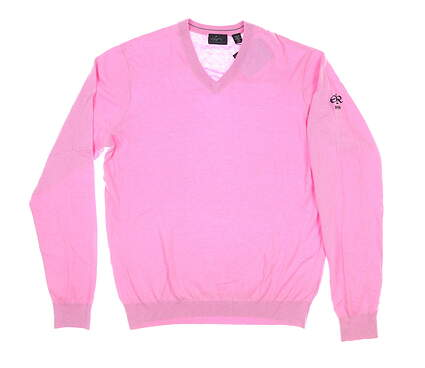 New W/ Logo Mens Greg Norman Golf Sweater Medium M Pink MSRP $90 G7F8S184