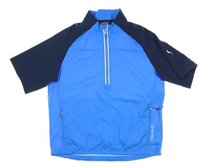 New W/ Logo Mens SUNICE Winston Windwear SS Pullover Medium M Blue MSRP $85 S53005