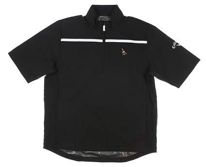New W/ Logo Mens Callaway Short Sleeve Wind Jacket Small S Black MSRP $79 CGRF70A2