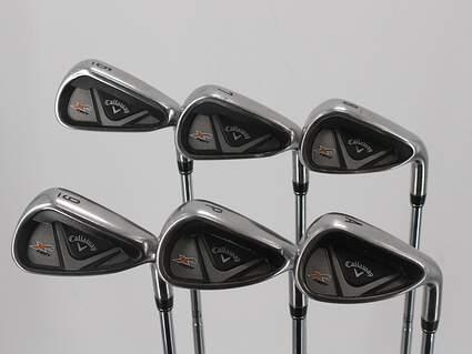 Callaway X2 Hot Iron Set 6-PW GW True Temper Dynamic Gold X100 Steel X-Stiff Right Handed Green Dot 37.75in