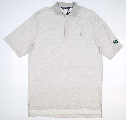 New W/ Logo Mens Ralph Lauren Golf Polo Medium M Gray MSRP $80 0450917