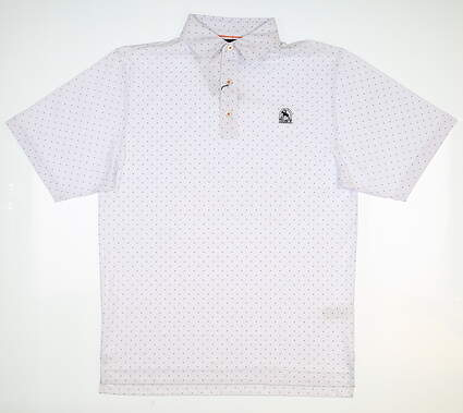 New W/ Logo Mens Footjoy Pique Golf Polo Small S White MSRP $80 20554