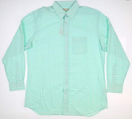 New Mens DONALD ROSS Button Down Large L Green MSRP $110 DR543-117