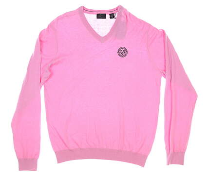 New W/ Logo Mens Greg Norman Golf Sweater Large L Pink MSRP $90 G7F8S184