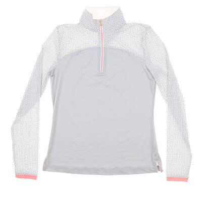 New Womens Fairway & Greene 1/4 Zip Golf Pullover X-Small XS Multi MSRP $110 J12227