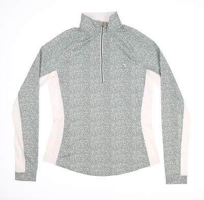New W/ Logo Womens Fairway & Greene 1/4 Zip Pullover X-Small XS Green MSRP $110 J12228