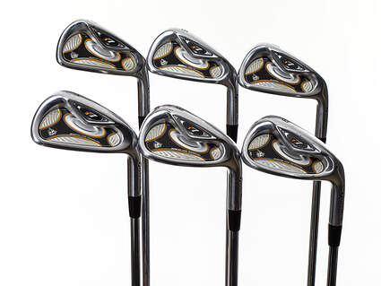 Tour Issue TaylorMade R7 TP Iron Set 4-9 Iron Stock Steel Shaft Steel Stiff Right Handed 38.0in