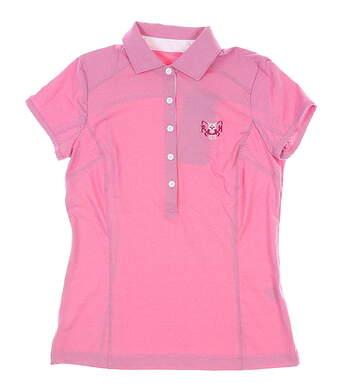 New W/ Logo Womens Zero Restriction Holly Golf Polo X-Small XS Dahlia MSRP $89