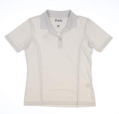New Womens Fairway & Greene Golf Polo X-Small XS Gray MSRP $95