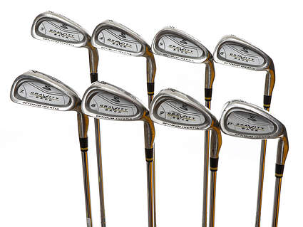 Cobra Gravity Back Iron Set 3-PW Stock Steel Shaft Steel Stiff Right Handed 37.75in