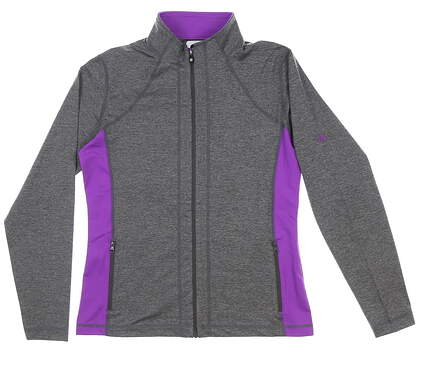 New W/ Logo Womens Footjoy Full Zip Mock Jacket Small S Gray MSRP $100 27522