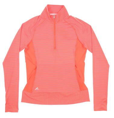 New W/ Logo Womens Adidas Rangewear 1/4 Zip Pullover X-Small XS Orange MSRP $75BC1815