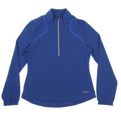 New Womens Cutter & Buck Annika 1/4 Zip Pullover X-Small XS Blue MSRP $105 LAO09806