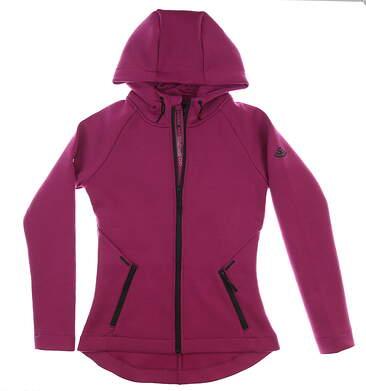 New W/ Logo Womens Level Wear Motion Sweatshirt Large L Black Currant MSRP $100 DH00L