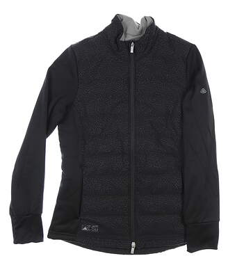New W/ Logo Womens Adidas Quilted Golf Jacket Small S Black MSRP $130 DV3601