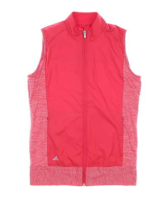 New Womens Adidas Rangewear Golf Vest Small S Pink MSRP $75 BC6273
