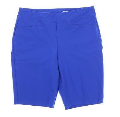 New Womens Greg Norman Pull On Golf Shorts 8 Blue MSRP $79 g2F7H7783