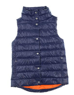 New Womens Ralph Lauren Golf Vest Small S Navy Blue MSRP $200
