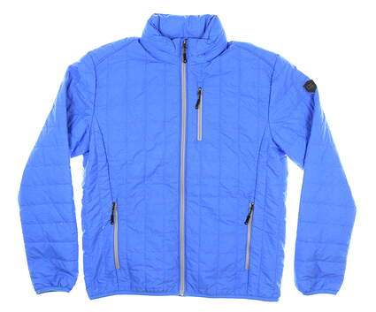 New W/ Logo Mens Cutter & Buck Golf Jacket Medium M Blue MSRP $110 MCO00018