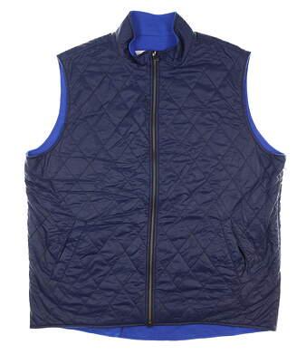 New Mens Dunhill Links Reversible Golf Vest Large L Blue MSRP $275 DLSO012