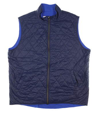 New Mens Dunhill Links Reversible Golf Vest XX-Large XXL Blue MSRP $275 DLSO012