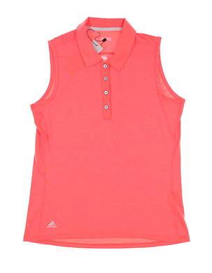 New W/ Logo Womens Adidas Sleeveless Golf Polo Small S Orange MSRP $60 BC2767
