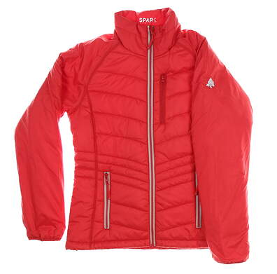 New W/ Logo Womens Cutter & Buck Jacket Small S Red MSRP $155