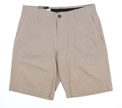 New Mens Under Armour Golf Shorts 40 Khaki MSRP $70